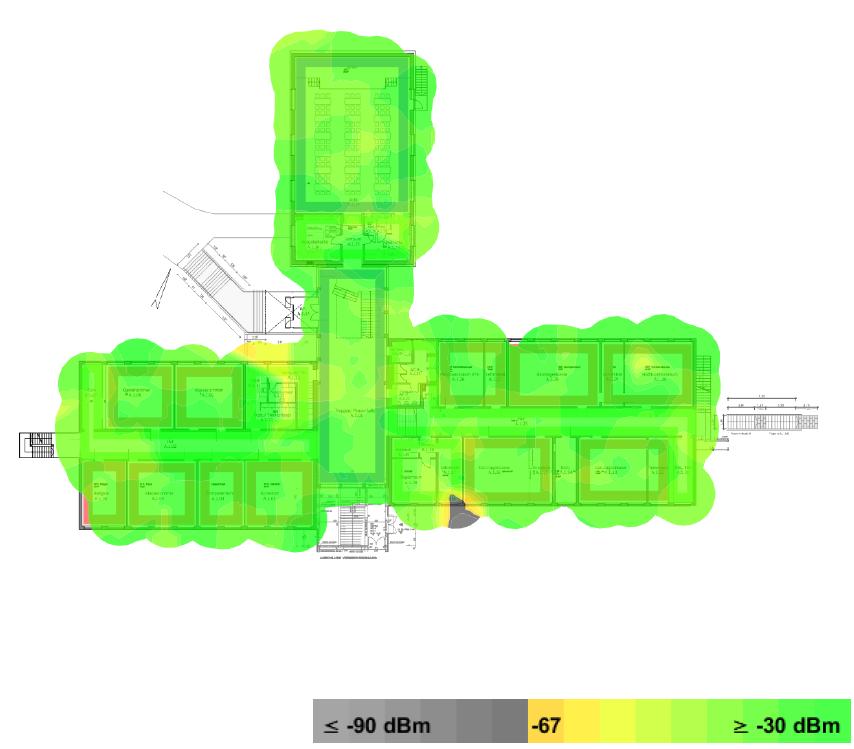 Heatmap einer WLAN-Ausleuchtung